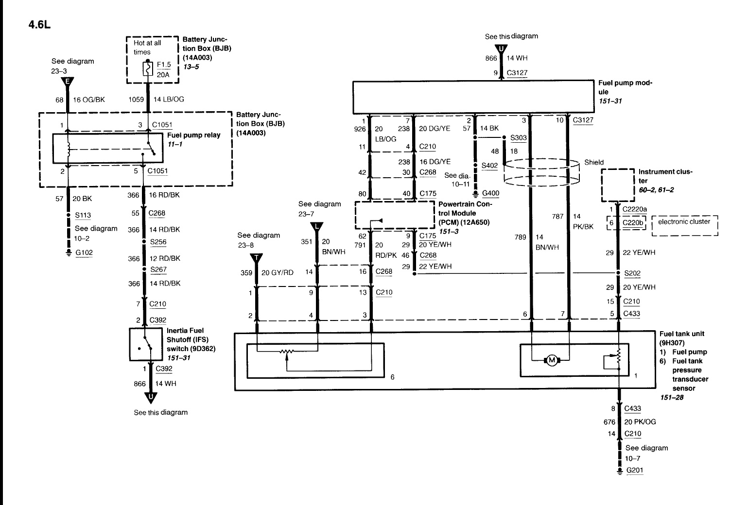 2011 Crown Victoria Police Interceptor Wiring Diagram : 53