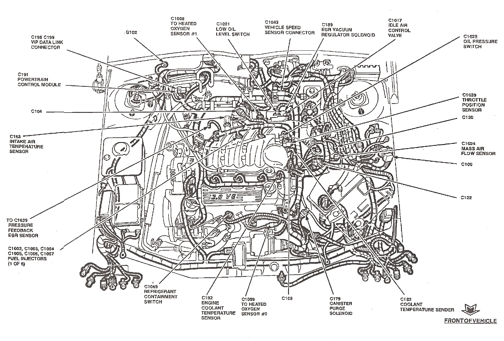 Ford taurus fuel line diagram
