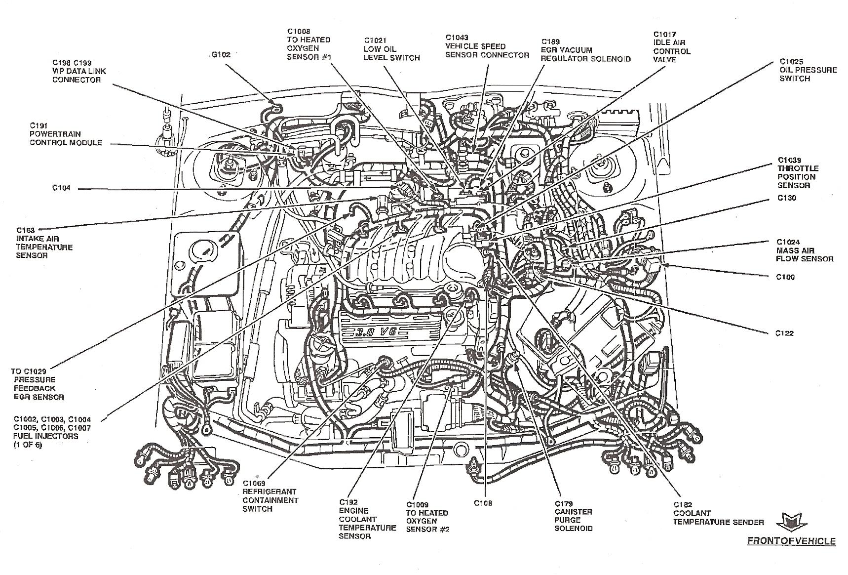 Ford taurus fuel line diagram