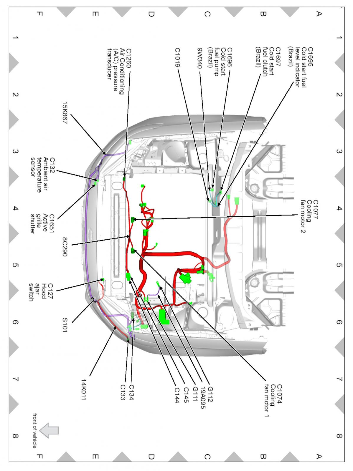 2013 Ford Fusion Hood Latch Wiring Diagram. Ford. Auto