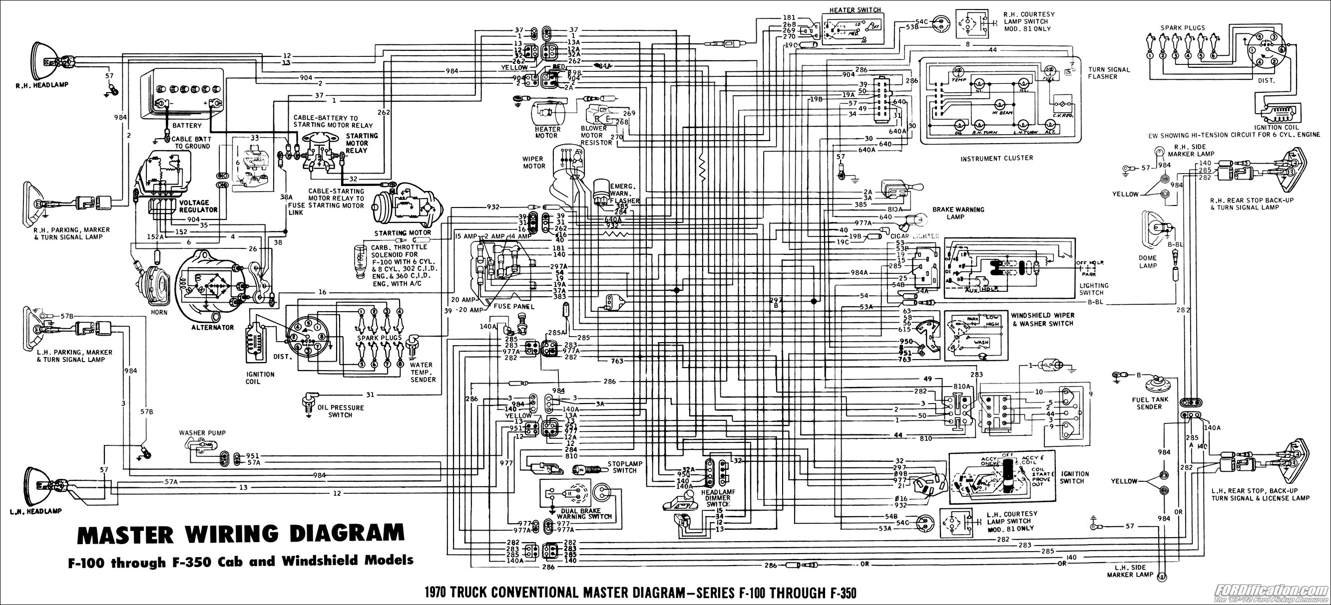 Toyota Headlight Wiring Diagram Color Codes 1970 Body Builder S Layout Book Fordification Com