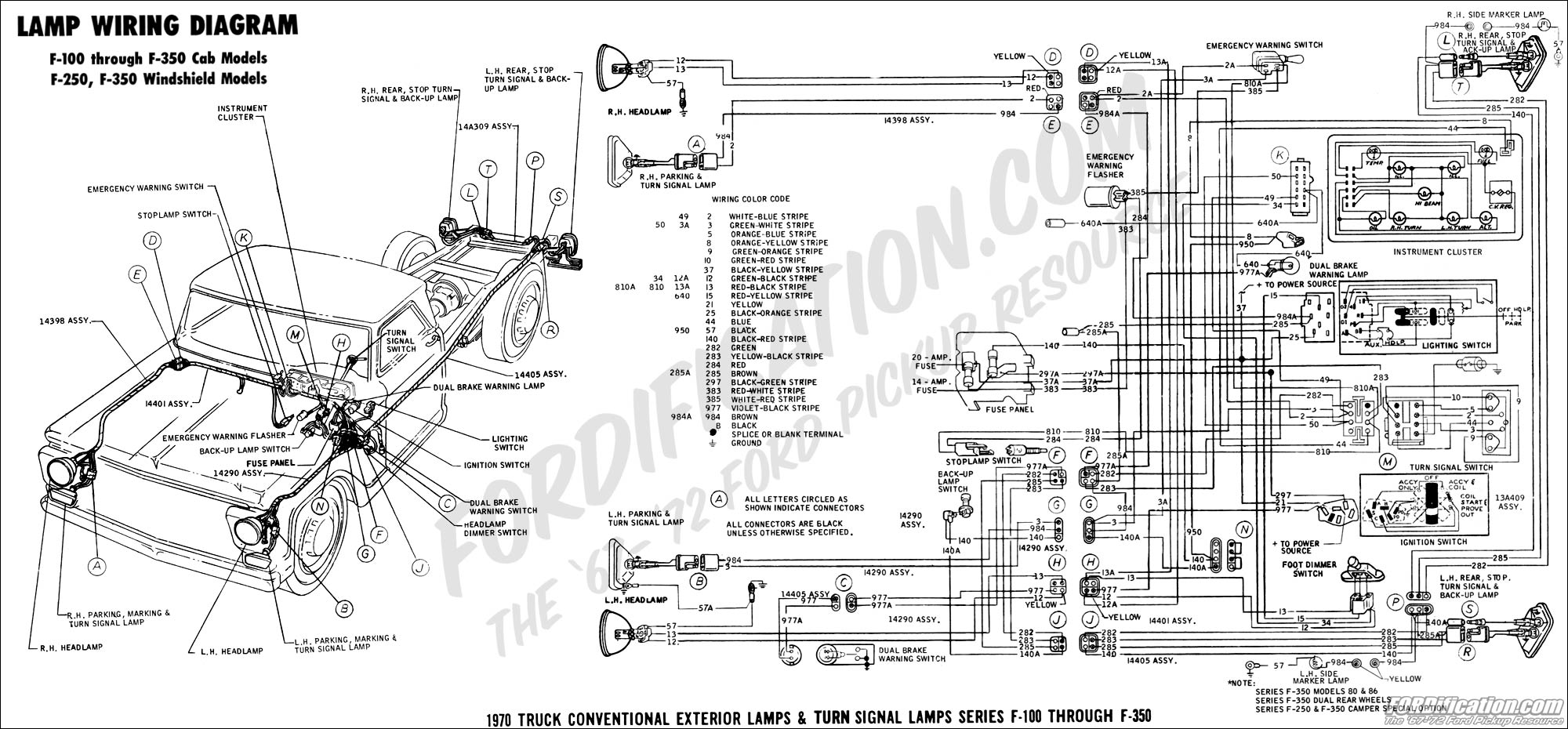 Camper Wiring Diagram 1976 1970 Body Builder S Layout Book Fordification Com