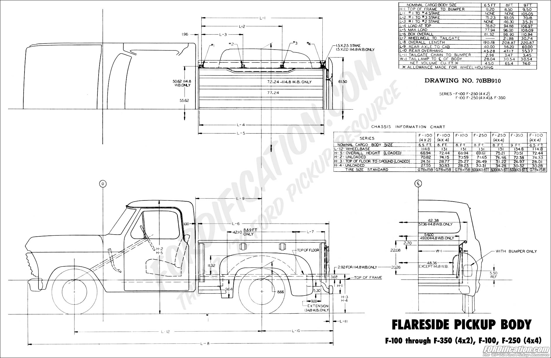 ford wiring diagrams f250 porsche 997 turbo diagram 1970 body builder's layout book - fordification.com