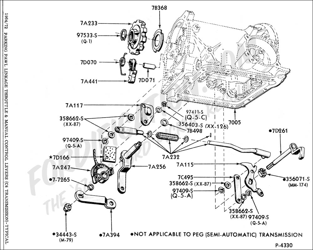 Ford C4 Transmission Linkage Diagram, Ford, Free Engine