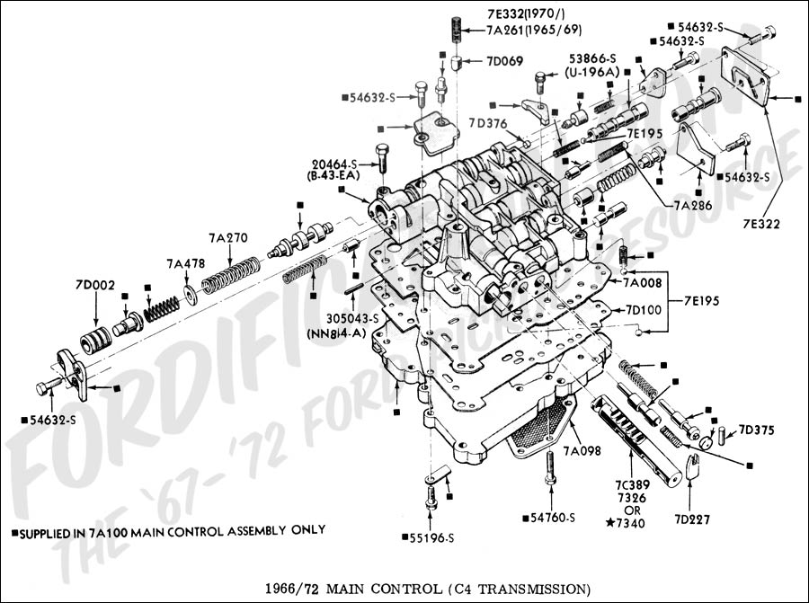C4 Transmission Valve Body Diagram