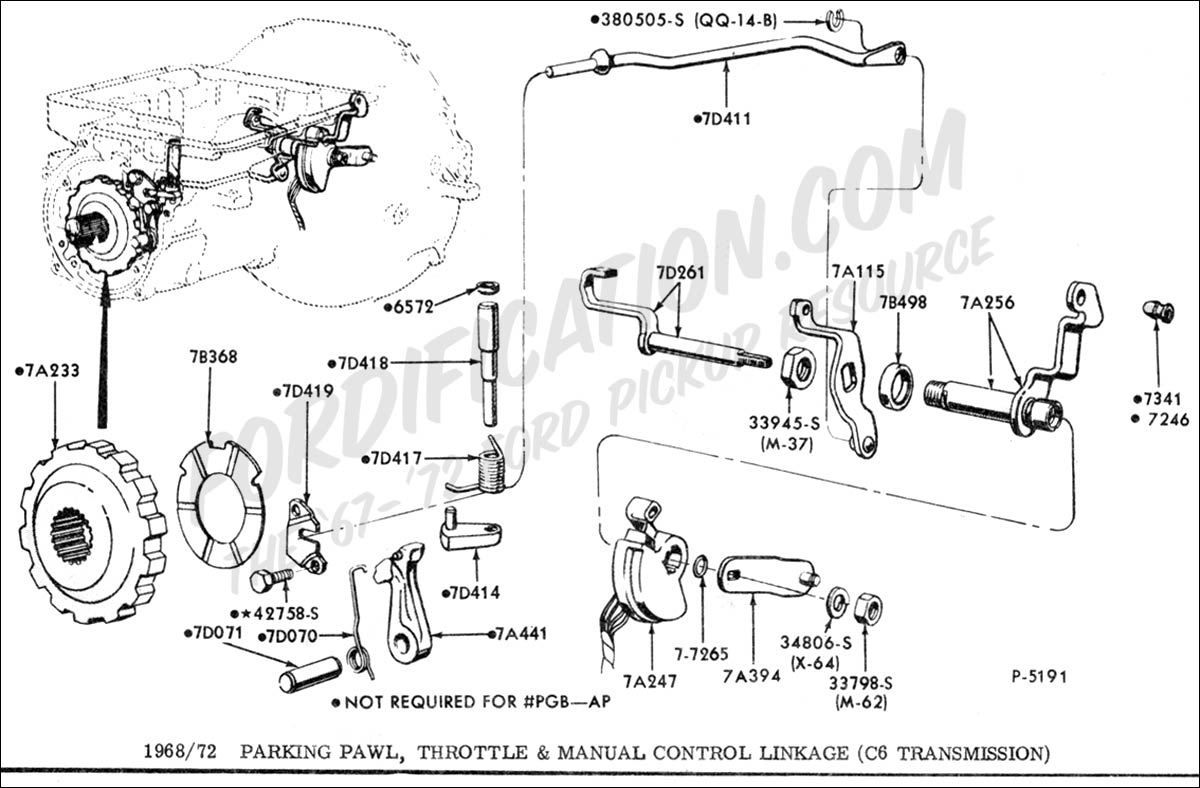 Ford c6 transmission exploded view