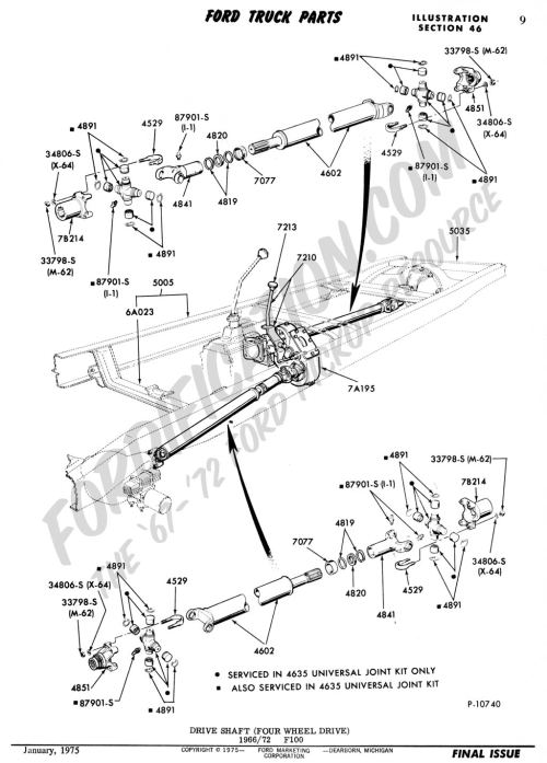 small resolution of ford truck technical drawings and schematics section a front rear axle assemblies and suspensions