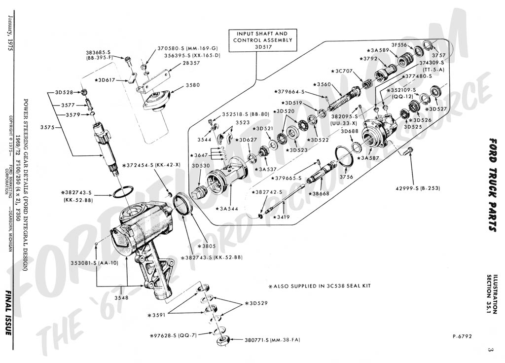 1968 f100 wiring diagram bmw stereo ford truck technical drawings and schematics - section c steering systems related components