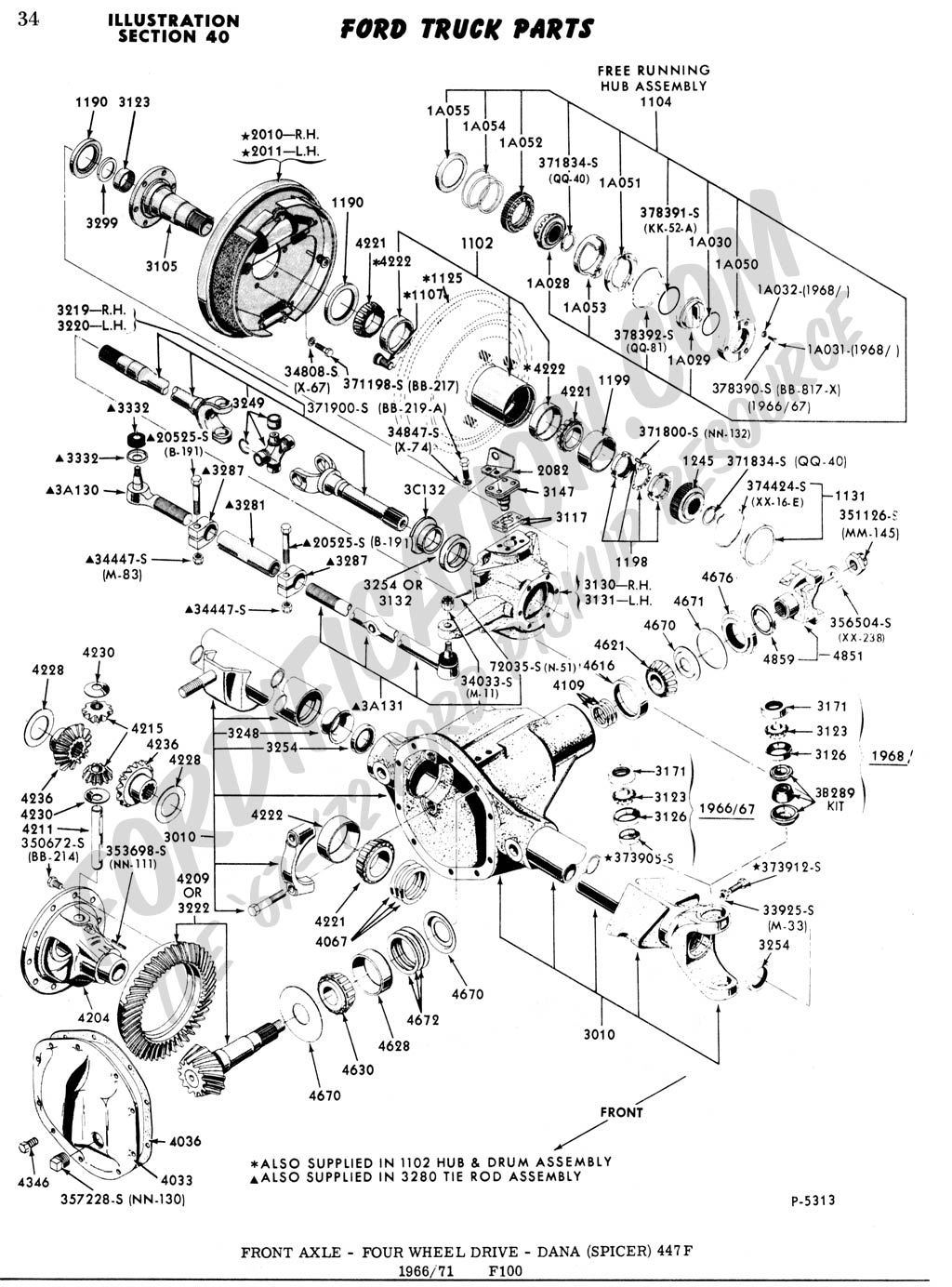 dana 44 front axle diagram