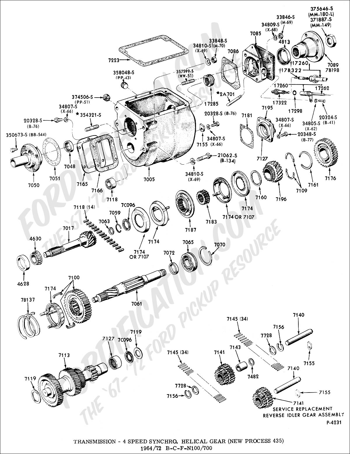 Np435 Transmission Part Diagram