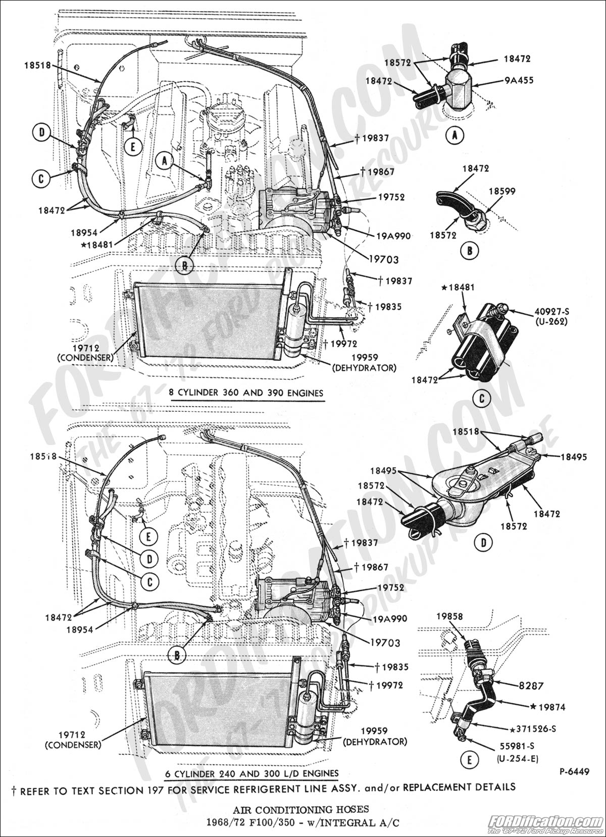 Ford Truck Part Numbers (Air Conditioning, Factory