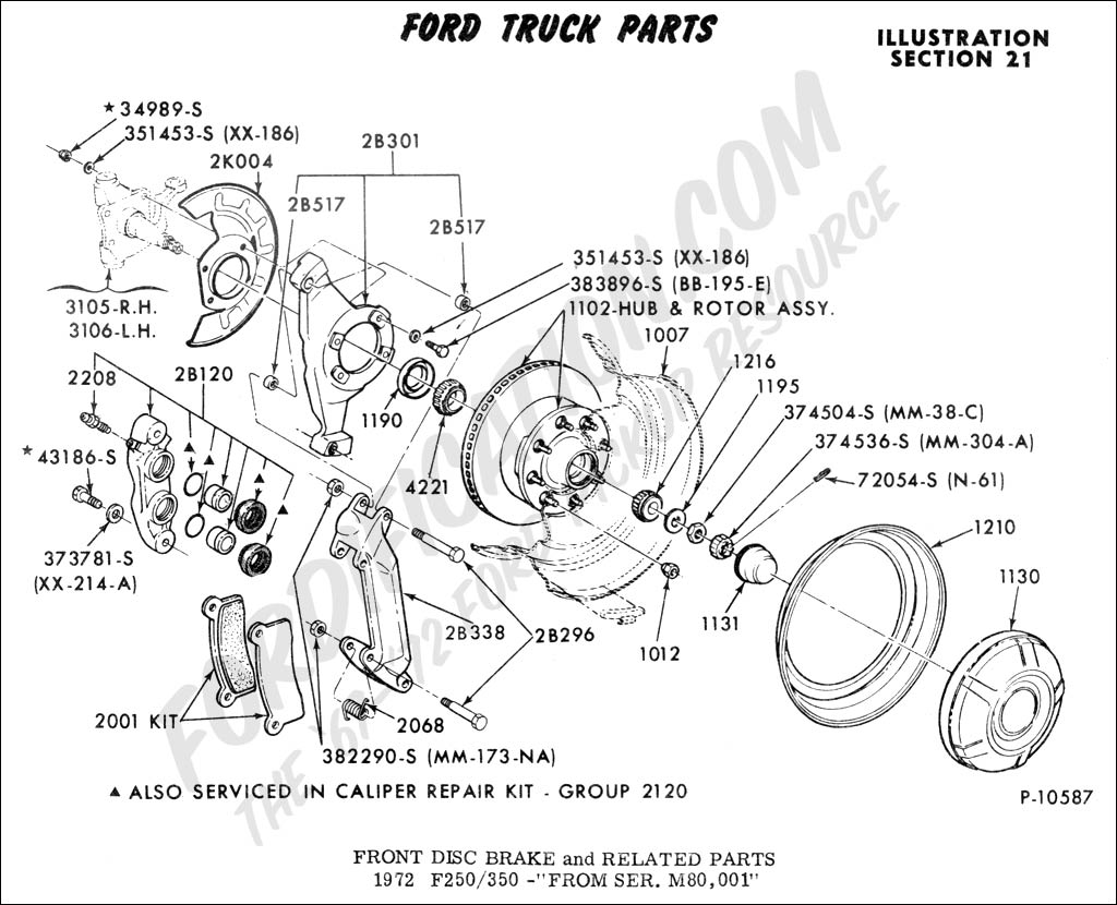 Ford Ranger Brake Caliper Diagram