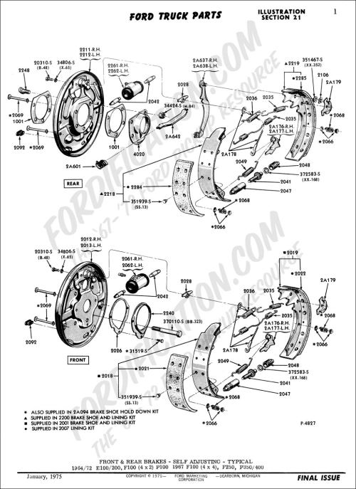 small resolution of ford truck technical drawings and schematics section b brake systems and related components