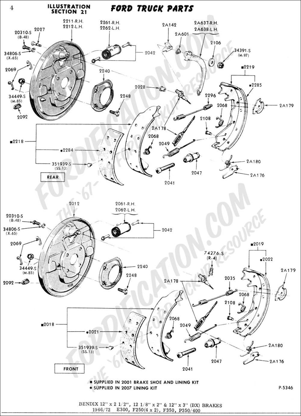 medium resolution of ford truck technical drawings and schematics section b brakeford truck technical drawings and schematics section b