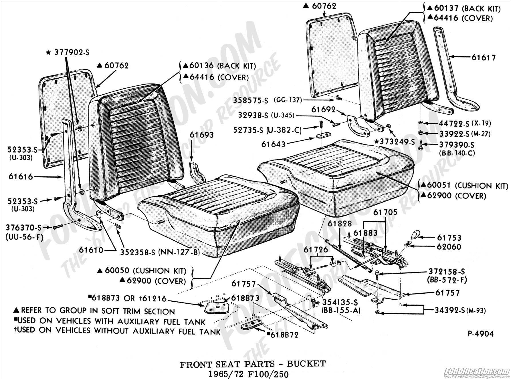 Factory Bucket Mounting Hardware