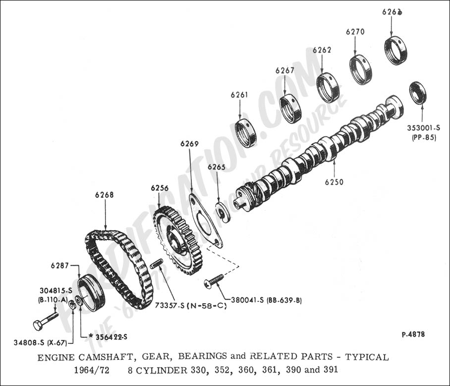 1967 Ford F100 352 Engine, 1967, Free Engine Image For