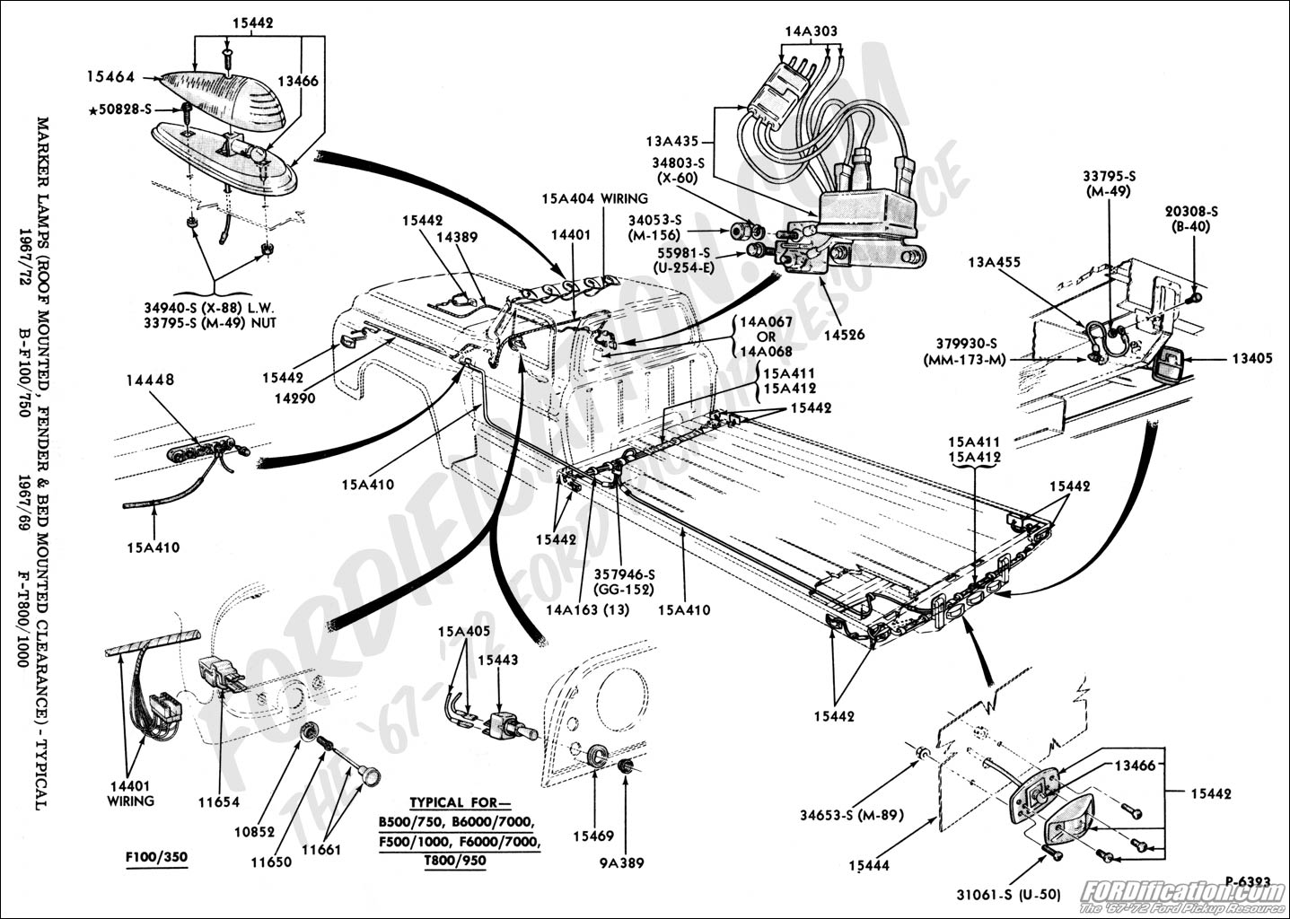 hight resolution of ford truck technical drawings and schematics section i 1968 f100 steering column wiring diagram 1968 ford