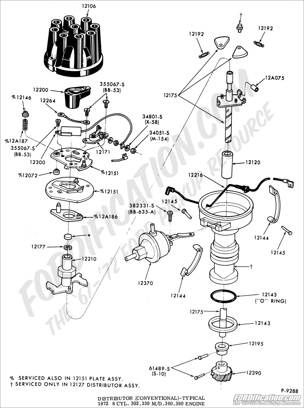 Ford truck technical drawings and schematics section i ford 300 6 cylinder diagram ford 360 distributors
