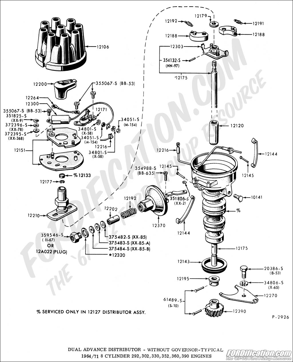 ford 302 distributor wiring diagram ford
