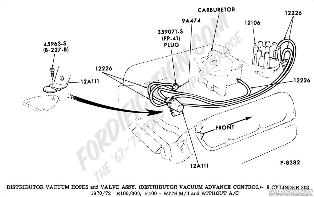 medium resolution of ford truck technical drawings and schematics section i 1972 ford f100 vacuum diagram