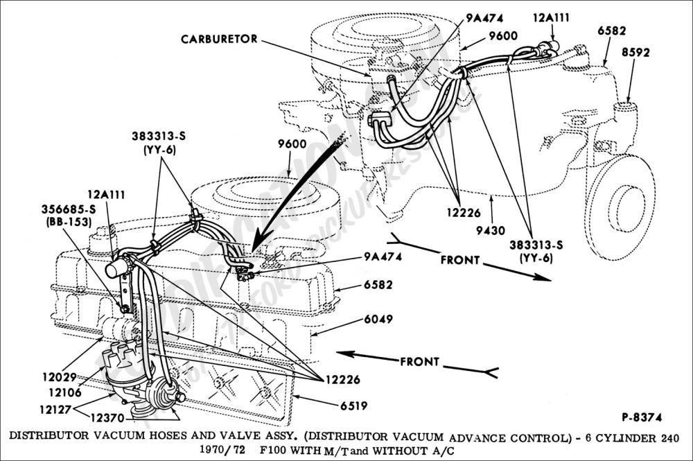 medium resolution of ford truck technical drawings and schematics section i 1970 ford f100 vacuum diagram 1972 ford f100 vacuum diagram