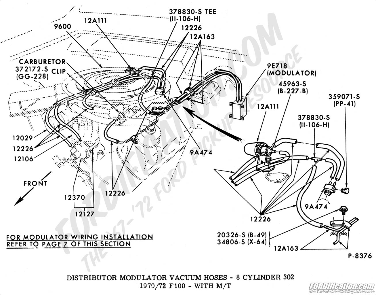 hight resolution of ford truck technical drawings and schematics section i 1985 ford f 250 460 wiring