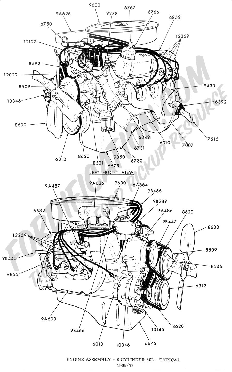 medium resolution of ford truck technical drawings and schematics section e engine 1965 f100 1971 ford f100 schematic