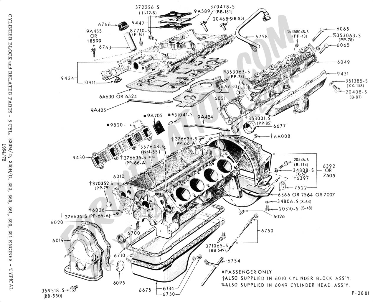 352 ford engine diagram