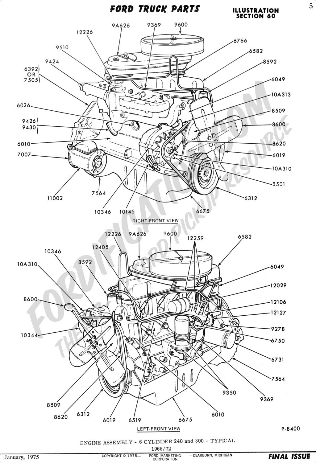[WRG-5568] 1970 Ford 302 Engine Parts Diagram