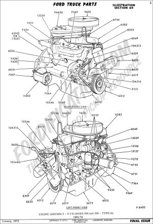 Ford Truck Technical Drawings and Schematics  Section E  Engine and Related Components