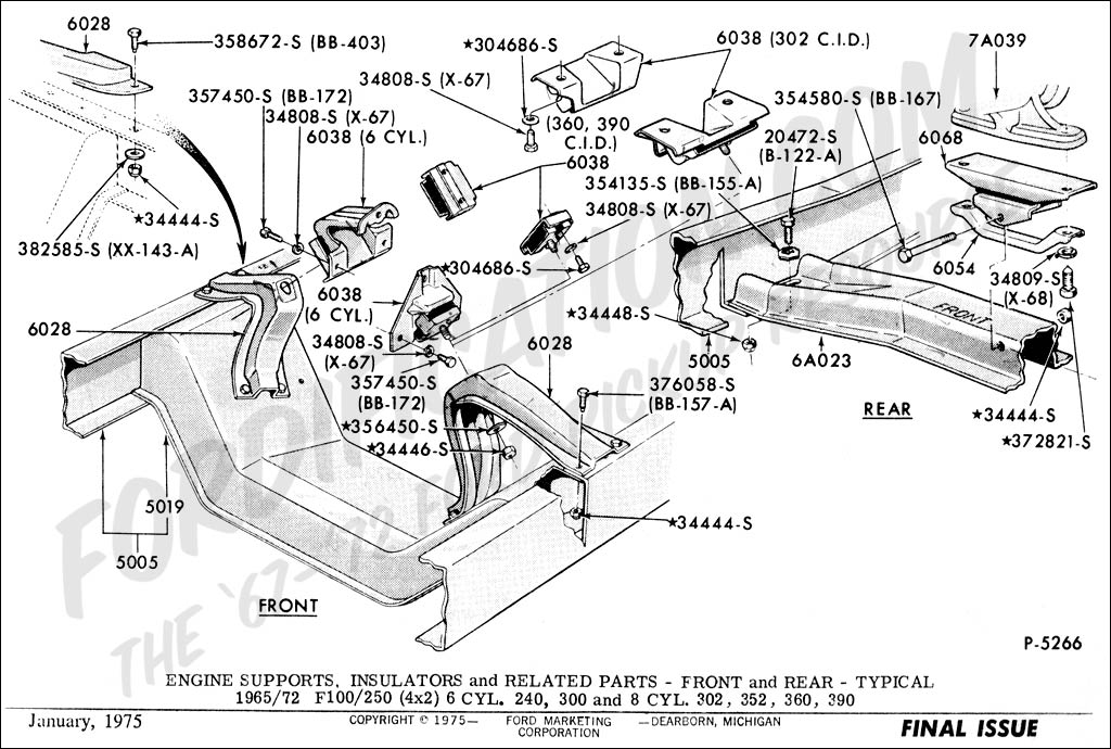 ford bronco 1986 302 engine diagram