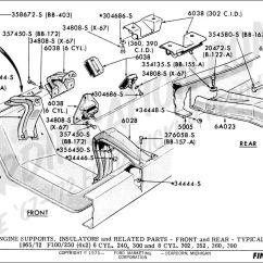 Hydraulic Pump Motor Wiring Diagram 2002 Jetta Monsoon Radio Ford Truck Part Numbers (engine Supports) - Fordification.com