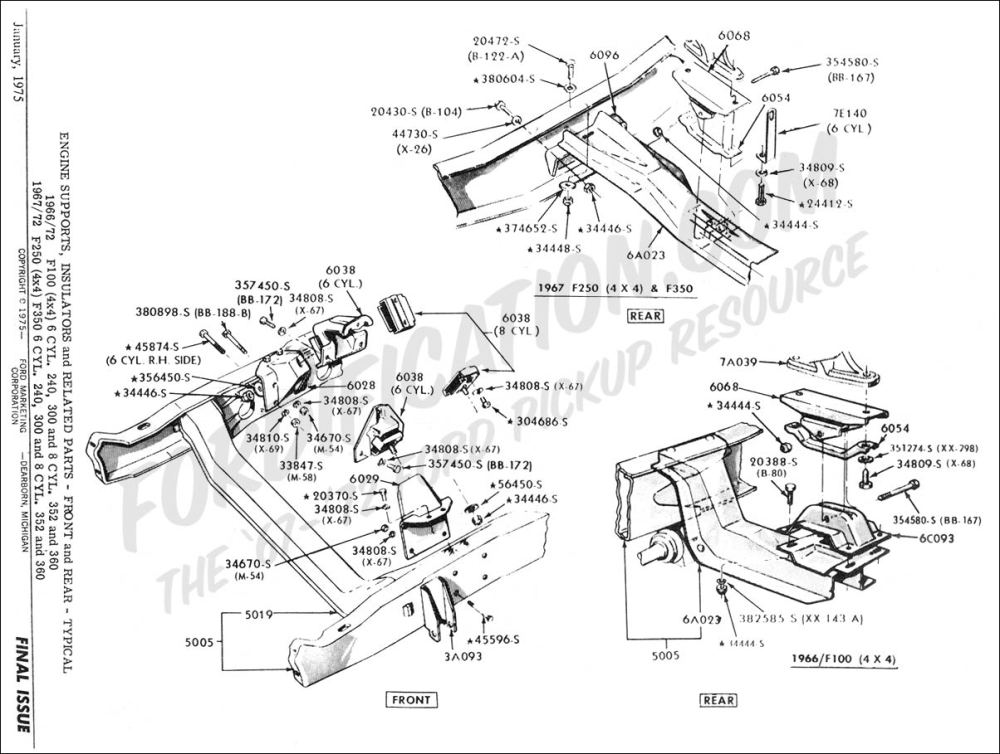 medium resolution of ford truck technical drawings and schematics section e engine and related components