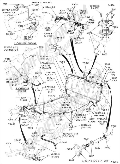 small resolution of ford truck technical drawings and schematics section e engine 1972 ford f100 1971 ford f100 schematic