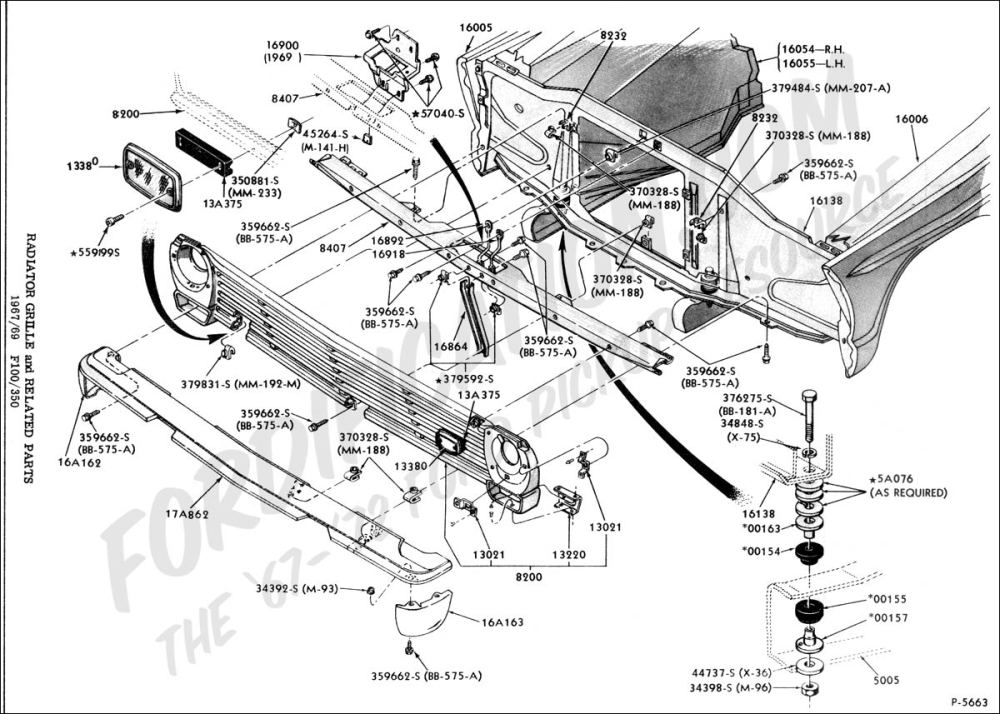 medium resolution of ford truck technical drawings and schematics section d frame rh fordification com 1953 ford f100 truck