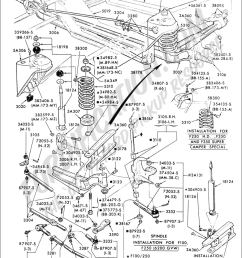 ford truck technical drawings and schematics section a front ford mustang front suspension exploded diagram ford f350 front end [ 1024 x 1524 Pixel ]