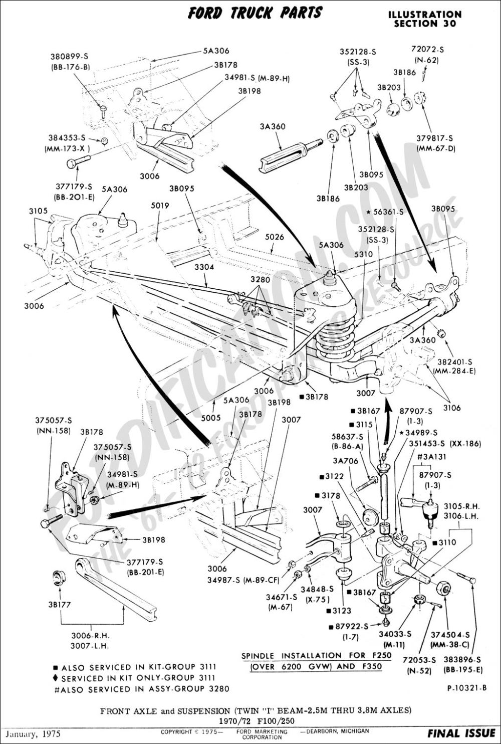 medium resolution of ford truck technical drawings and schematics section a front 1977 f150 suspension diagram 4x4