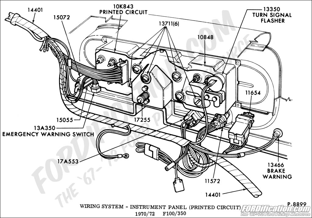 72 ford f100 dash wiring diagram how to wire a junction box truck technical drawings and schematics section i electrical