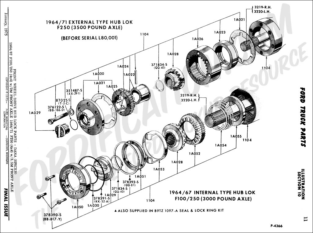 Parts F350 Axle Front 2000