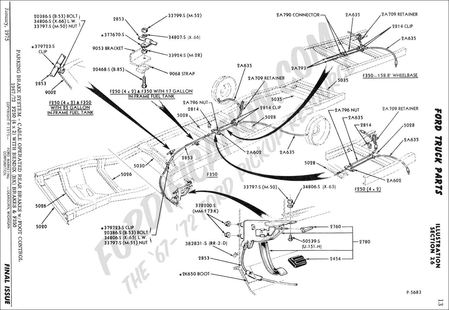 ford f 150 parking brake diagram