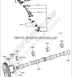 engine piston connecting rod and related parts typical 1964 1972 6 cyl 240 300 and 8 cyl 330 352 360 361 390 and 391 [ 1024 x 1444 Pixel ]
