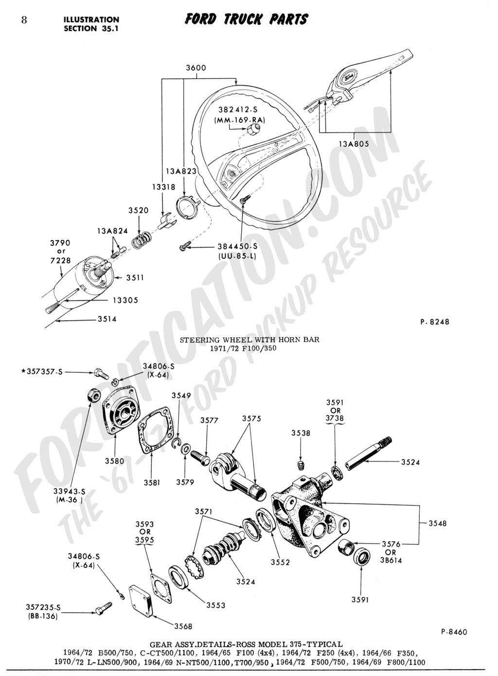 1968 Ford Truck Steering Column Wiring Diagram. Ford. Auto