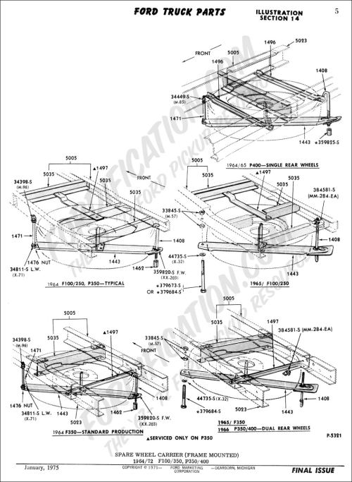 small resolution of ford truck technical drawings and schematics section d frame body and related components
