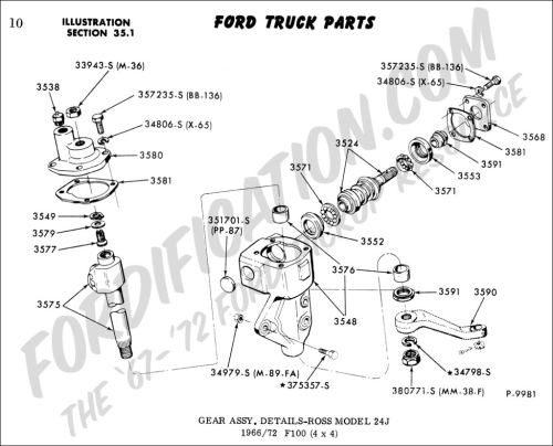 small resolution of ford truck technical drawings and schematics section c steering rh fordification com ford 5000 steering box