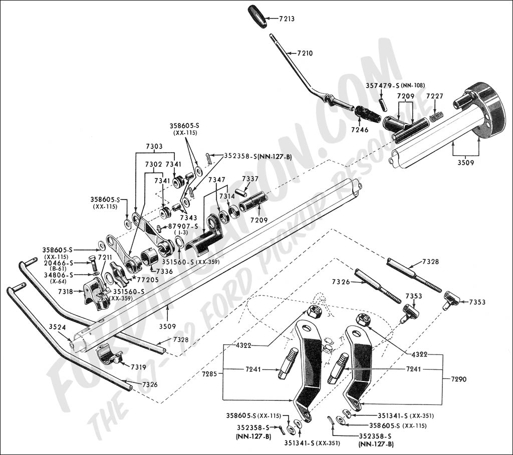 350 automatic transmission parts diagram lighting circuits wiring diagrams for house ford truck technical drawings and schematics - section c steering systems related components