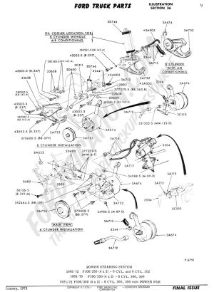 Ford Truck Technical Drawings and Schematics  Section C  Steering Systems and Related Components