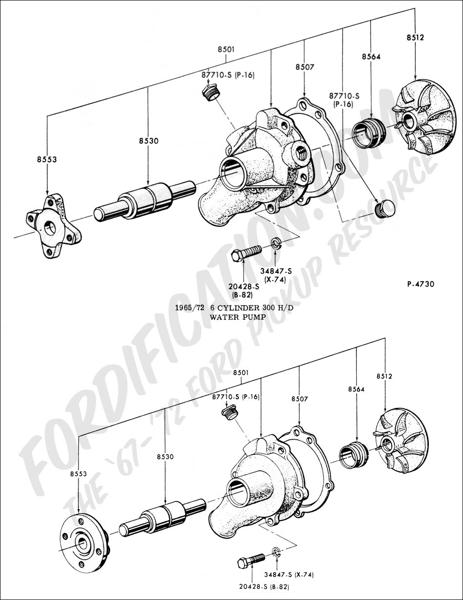 medium resolution of ford truck technical drawings and schematics section e engine 1965 ford 6 cylinder engine diagram