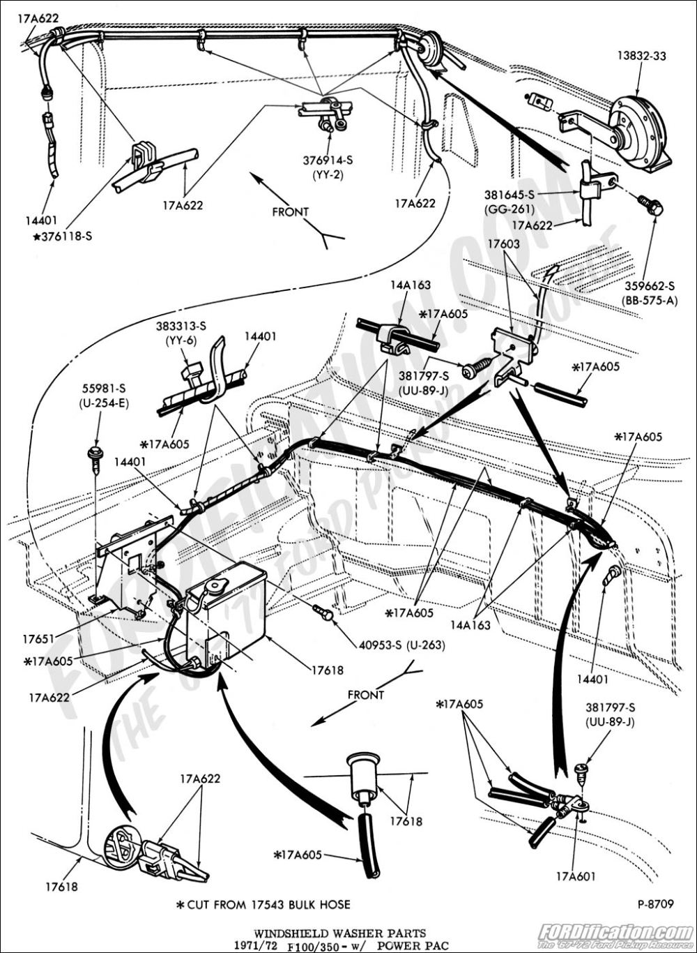 medium resolution of ford truck technical drawings and schematics section i 1968 f100 steering column wiring diagram