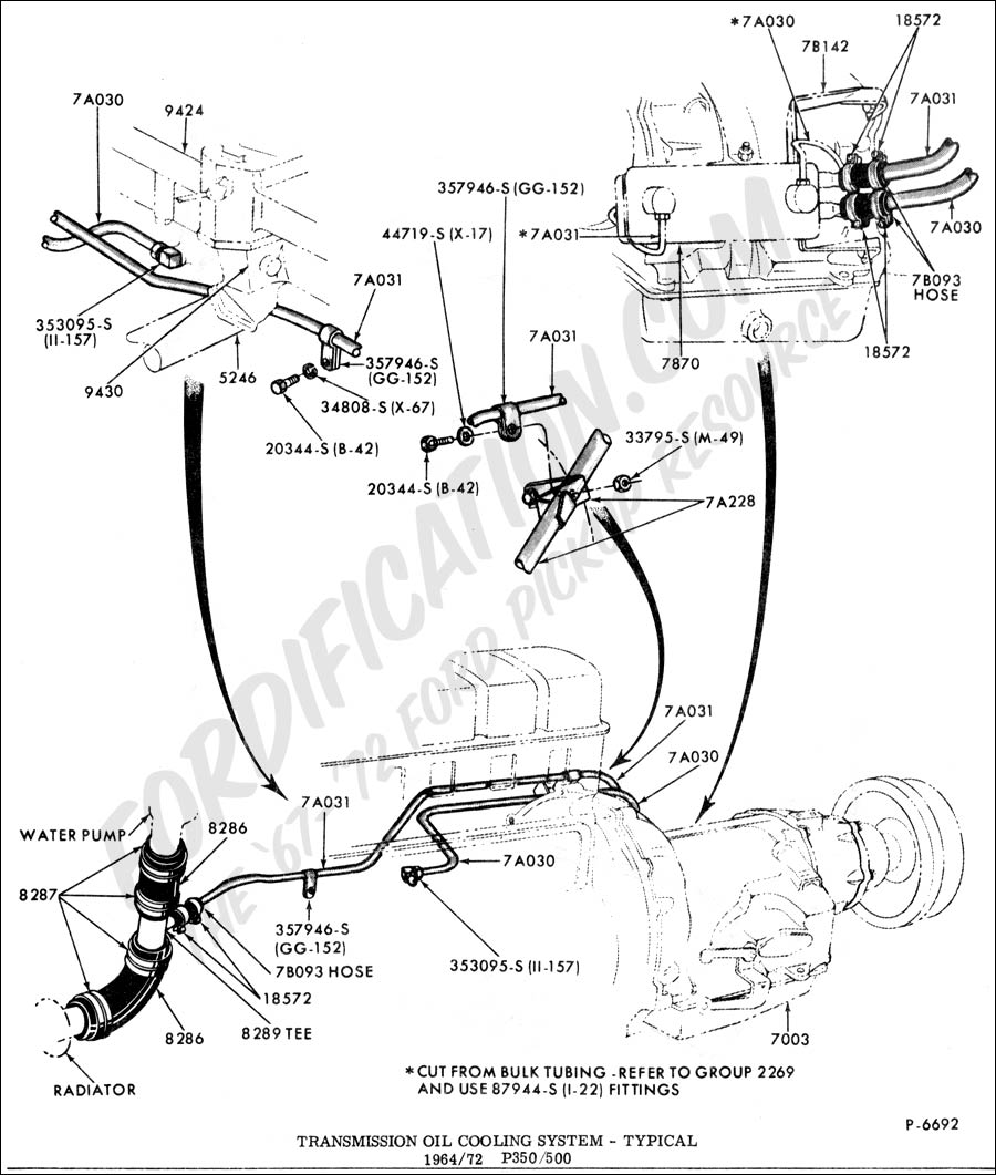 Ford truck technical drawings and schematics section g drivetrain transmission clutch transfer case etc