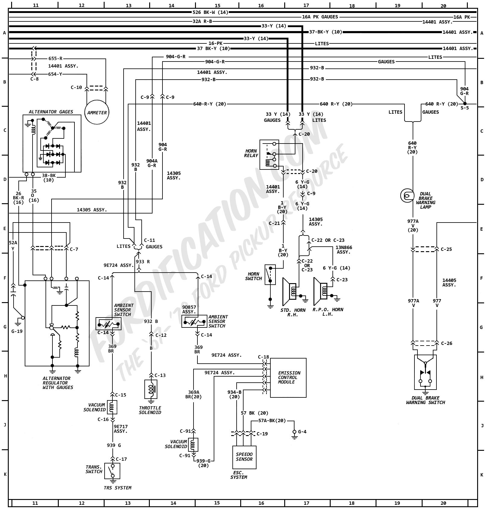 1972 Ford F 100 Thru 350 Master Wiring Diagram Picture to